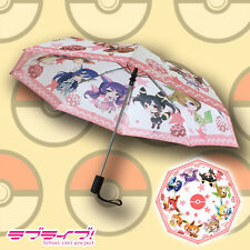 Unique! Pokemon x Love Live School Idol Project Auto Folding Sun-Rain Umbrella