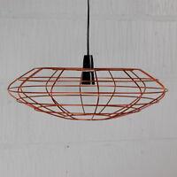 Bessemer Industrial Vintage Metal Wire Pendant Light Cafe Bar Cage Lamp Pendant