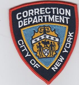 NYPD NYCD Correction Department Regulation  Patch - rot mit Sternen -