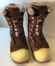 Keen Womens 6 US 3.5 UK 36 EU Brown Canvas Fleece Lined Winter Boots