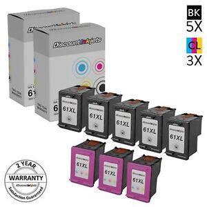 8PK-CH563WN-CH564WN-for-HP-61XL-BLACK-COLOR-Ink-Deskjet-3051-3510-3511-3512-2510