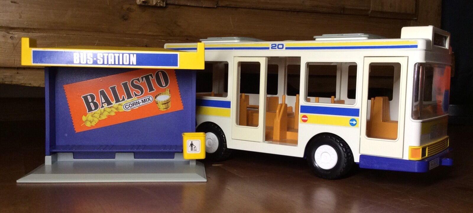 Playmobil 3782-A Bus Bushaltestelle Citybus Wartehäuschen 1988