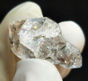 Natural DT Terminated Himalayan Herkimer Diamond Quartz Rainbow, US Seller