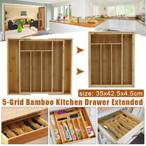 Kitchen-Expandable-Bamboo-Wood-Cutlery-Tray-Utensil-Drawer-Insert-Divider