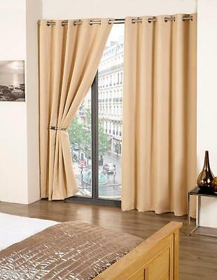 Thermal Blackout Ready Made Curtain Pair, Light Reducing Eyelet Curtains