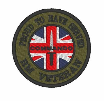 ROYAL MARINES E0161  FULLY EMBROIDERED BRITISH ARMED FORCES VETERAN PATCH