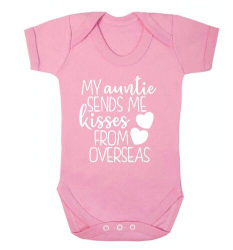 Zia manda baci dall/'estero Baby Gilet nipote nipote AMORE FAMIGLIA espatriato 4826