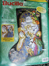 "Christmas Bucilla Counted Cross Stocking Kit,TIFFANY NATIVITY,Rossi,#84101,18"""