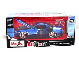 Maisto-2011-Ford-Mustang-Gt-Bleu-1-24-Voiture-Miniature