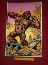Flocked Velvet BLACKLIGHT POSTER KING KONG A Guerrero Artwork 1976 MONARCH PUB.