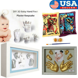 3D Plaster Handprint Footprint Baby Mould Hand/&Foot Casting Prints Kit Cast Gift
