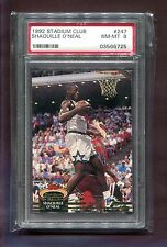 SHAQUILLE O'NEAL MAGIC 1992 STADIUM CLUB ROOKIE BASKETBALL CARD PSA 8 NBA TNT