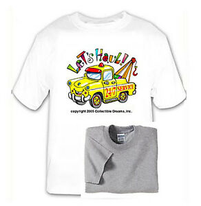 Tow-Truck-T-Shirt-Multiple-Sizes-Colors-Kids-Boys-Girls-Happy-Bright-Free-Ship