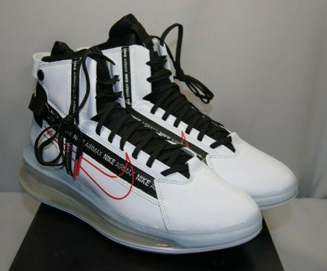 Mens Nike Air Max 720 Saturn Shoes Sz 10.5 White Black Red Ao2110 100