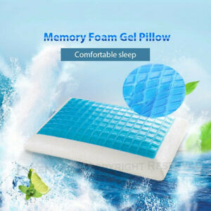 Memory-Foam-Pillow-w-Cooling-Gel-Orthopedic-Pillow-Cover-Head-Neck-Support-New