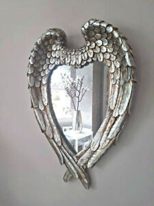 Large-Antique-Silver-Angel-Wings-Mirror-Shabby-Chic-Heart-Ornate-Wall-Vanity