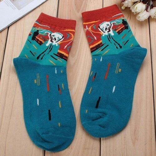 High Quality Short Socks Funny Art 1 Pair Unisex Socks Painting Novelty