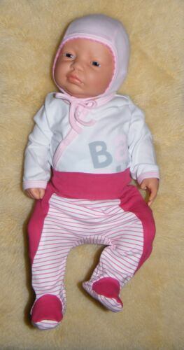 """56 62 68 SET /""""Baby rosa/"""" Wickelbody Baby Hose mit Fuß und Mütze Gr 3tlg"""