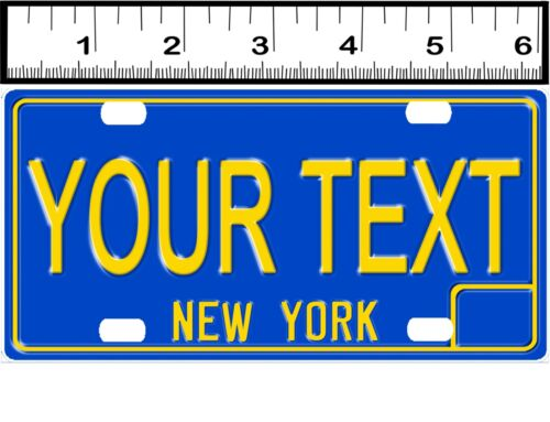 PERSONALIZED ALUMINUM BICYCLE MINI STATE LICENSE PLATE-NEW YORK 1969