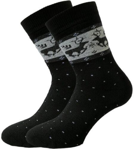 6er Pack warme Damen Winter-Socken mit Innenfrottee 85/% Baumwolle Thermo-Socken