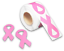 Breast Cancer Awareness Stickers Large Ribbon 1 Roll