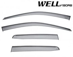 Fit 17-up Honda Ridgeline JDM WellVisors Smoke Black Trim Clip-On Window Visors