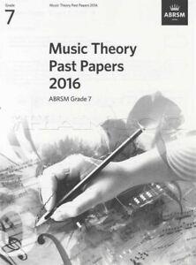 Abrsm Music Theory Passé Papers 2016 Grade 7 Examens Tests Sheet Music Book-afficher Le Titre D'origine Saveur Aromatique