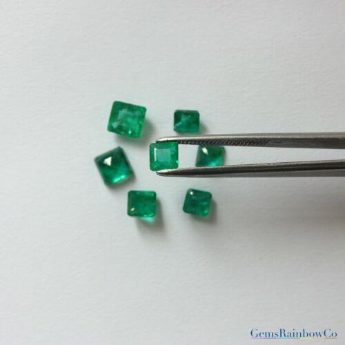 Deep Green color Per Piece #877 Details about  /Loose Natural Zambian Emerald Asscher /& Octagon