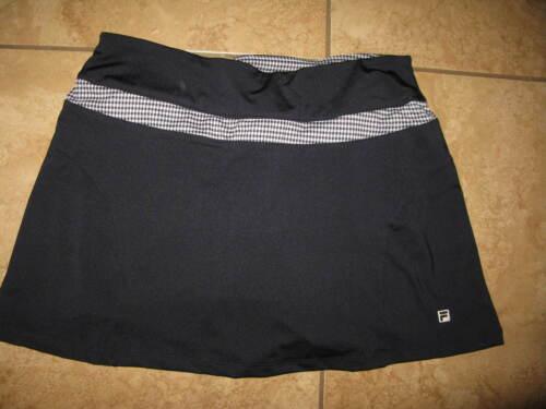 Fila Womens Navy/Plaid Golf Tennis Athletic Skort