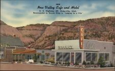 Orderville UT New Valley Caf' & Motel NICE LINEN Postcard
