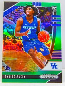 Tyrese Maxey RC 2020-21 Green Prizm Draft Picks 76ers Rookie Card 54 Kentucky SP