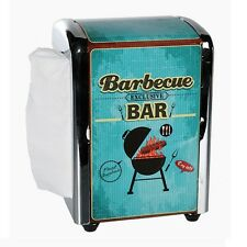 "Retro Metall-Serviettenspender ""Barbecue Bar"" ca. 14x10 cm inkl. 100 Servietten"