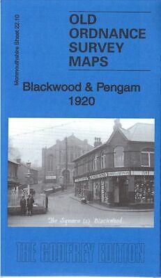 OLD ORDNANCE SURVEY MAP BLACKWOOD /& PENGAM 1920 FLEUR DE LIS COED DUON