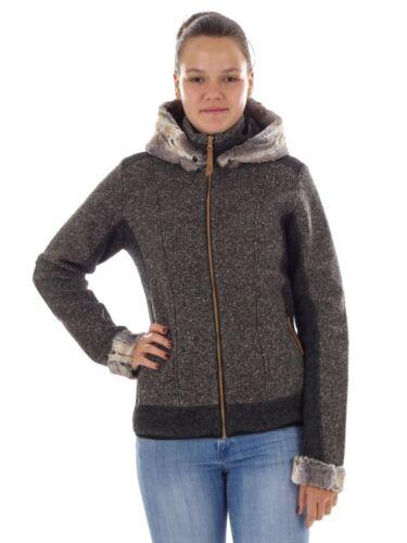 CMP Funktionsjacke Wolljacke Übergangsjacke grau WoolTech wärmend
