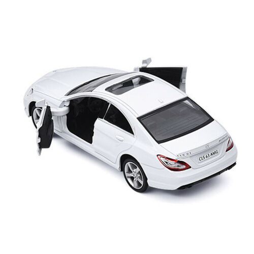 1:36 CLS 63 AMG Model Car Alloy Diecast Gift Toy Vehicle Pull Back Kids White