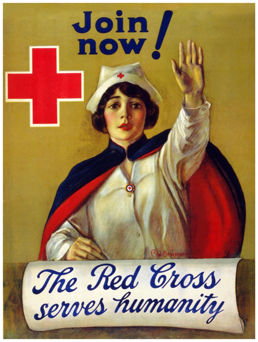 16x20 Decoration CANVAS.Interior room design art.rot Cross nurse recruit.6416