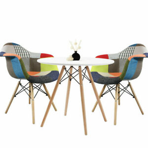 Round-Dining-table-and-2-chairs-retro-cafe-restaurant-Eiffel