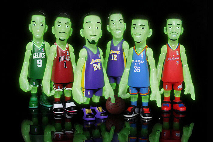 BAIT EXCLUSIVE NBA X COOLRAIN 2012-13 SEASON COLLECTIBLE SET - GLOW IN THE DARK