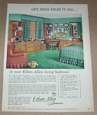 1960 Print Ad Ethan Allen Home Early