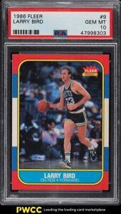 1986 Fleer Basketball Larry Bird #9 PSA 10 GEM MINT