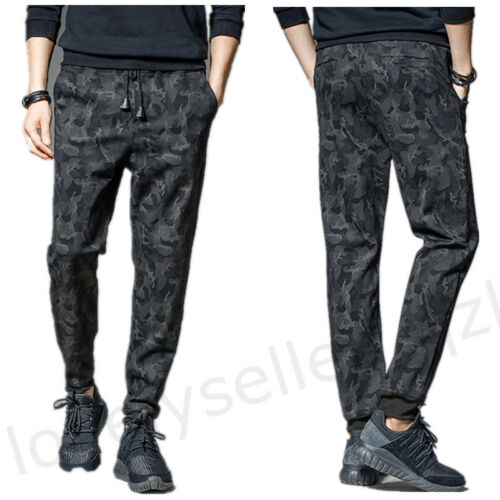 2019 Men/'s Camouflage Cotton Jogger Pants Camo Casual Sweatpants Sport Trousers