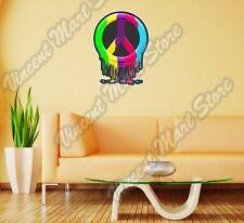 "Peace Symbol Hippie Love Rainbow Paint Wall Sticker Room Interior Decor 18""X25"""
