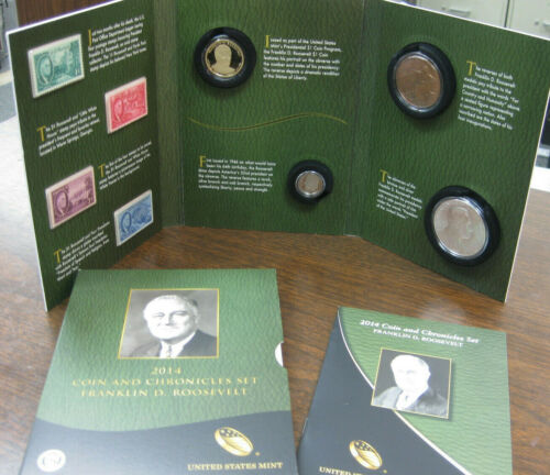 2014 FRANKLIN D ROOSEVELT COIN AND CHRONICLES SET w OGP