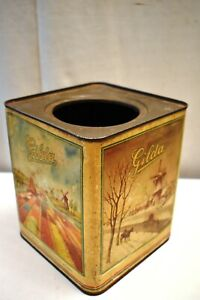 "Vintage N.V ""Gilda"" Confectionery Works Rotterdam Holland Tin Advertising Box""2"