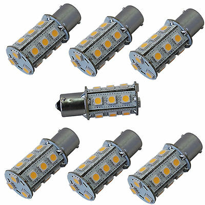 7-Pack BA15s 18SMD LED Bulb 10-30v Warm White for 1141 RV Interior Ceiling Light