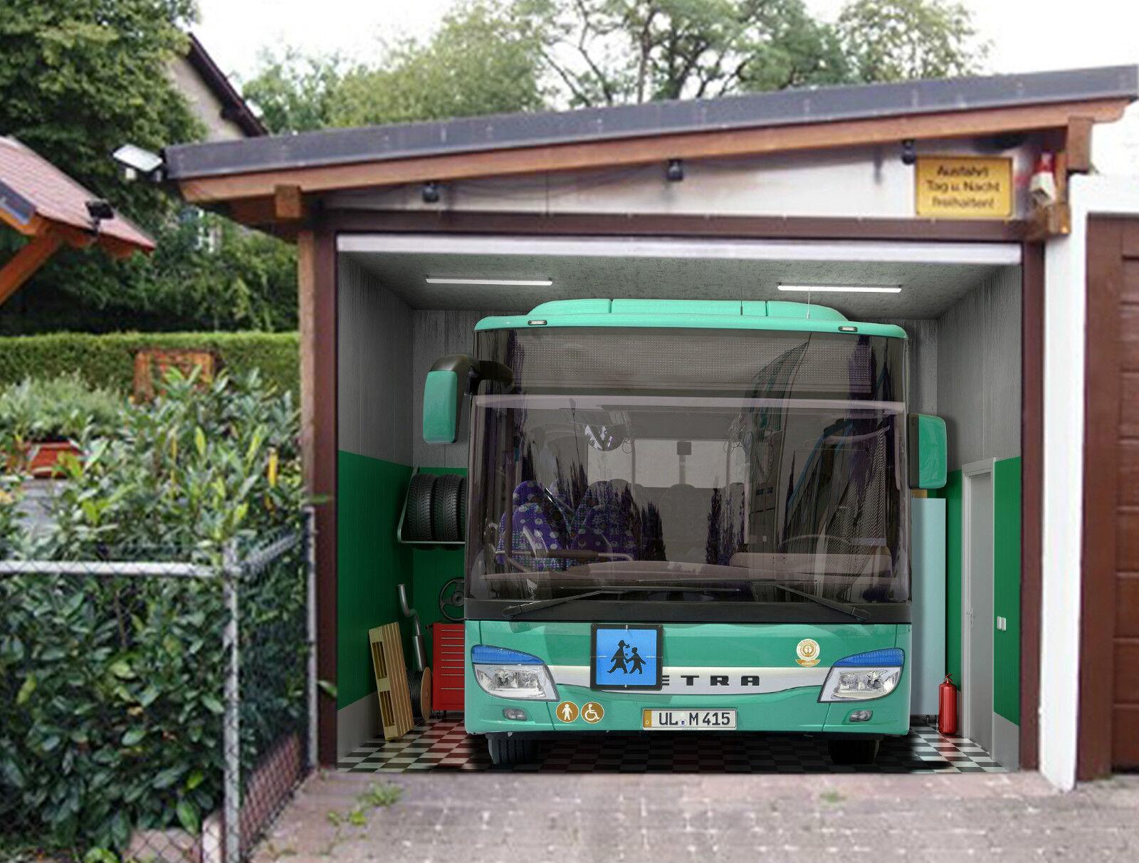 3D Le Big Bus 915 Garage Porte Peint en Autocollant Murale AJ WALLPAPER FR