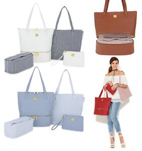 b81109a80b4 JOY Smart   Chic Leather Handbag Set with Secret Section (HSN 548 ...
