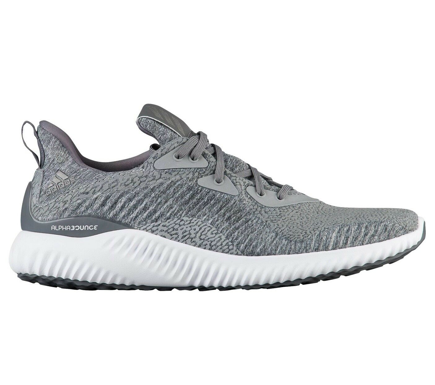 Adidas AlphaBounce HPC Aramis Mens BY4327 Grey ForgedMesh Running Shoes Sz 10.5