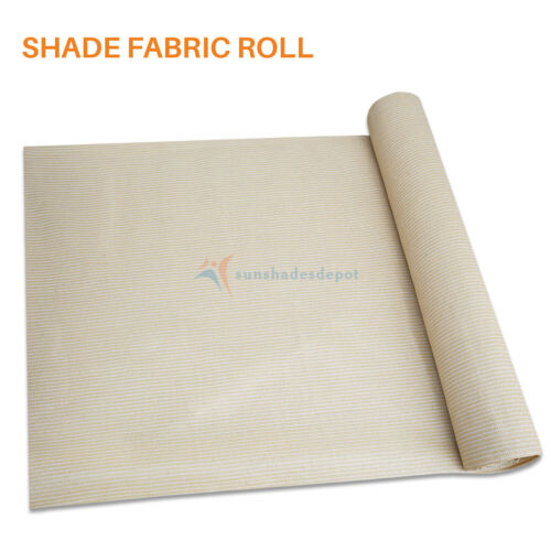 12ft Beige Shade Cloth Fabric Fence Windscreen Privacy Screen Sun Cover UV Block