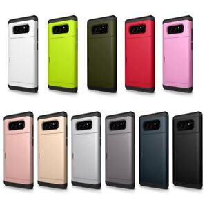 Fashion-Slide-Card-Pocket-Hybrid-Rugged-Hard-Cover-Back-Case-For-Samsung-Galaxy